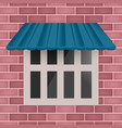 blue awning on window vector image vector image