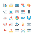 Business and Office Colored Icons 6 vector image vector image