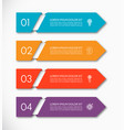 business infographic arrow template with 4 options vector image