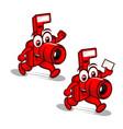 camera mascot logo vector image