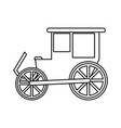 carriage wagon icon image vector image vector image
