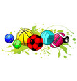 cartoon sports balls set vector image