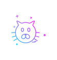 cat icon design vector image