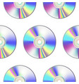 cd disk seamless pattern on white background vector image