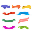 color banners set ribbon collection design vector image