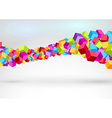 Cubes forming colorful swoosh wave vector image vector image