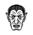 dracula vampire head black vector image vector image