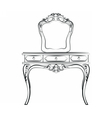Dressing table with mirror vector image vector image