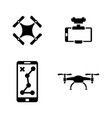 drone simple related icons vector image