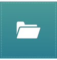 Folder flat icon vector image vector image