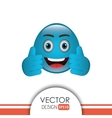 funny emoticon design vector image