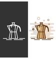 Geyser coffee maker icon vector image