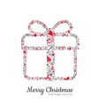 Gift box and christmas icon vector image