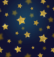 Glitter gold stars background vector image vector image