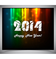 Happy new year 2014 text design vector image vector image