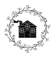 House of Christmas season design vector image vector image
