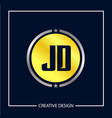 initial letter jd logo template design vector image