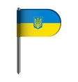 isolated flag of ukraine vector image