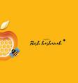 jewish new year rosh hashanah greeting card vector image