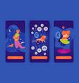 leo man mobile app screens vector image vector image