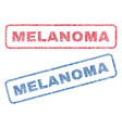 melanoma textile stamps vector image vector image