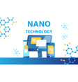 nanotechnology lab science and medicine banner vector image vector image