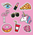 patches cute decoration vector image vector image