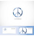 Peace flower power sign symbol logo vector image vector image