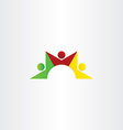 people dancing teamwork icon vector image vector image