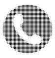 phone number halftone icon vector image