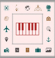 piano keyboard icon elements for your design vector image vector image