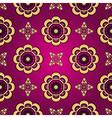 Purple seamless vintage pattern vector image vector image