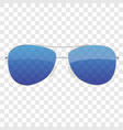 realistic sun glasses icon isolated on white vector image