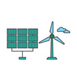 renewable energy line icon concept renewable vector image vector image