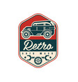 retro auto wash logo design car service badge vector image vector image