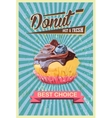 Retro cupcake Poster Promotional sign vector image vector image