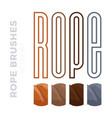 rope brushes frame decorative black line set with vector image