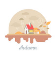 seasonal of beautiful house with chimney and vector image