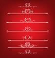 Set Valentines Day Design Elements vector image vector image