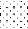 shape icons pattern seamless included editable vector image vector image