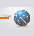 silhouette of a basketball ball from triangles vector image