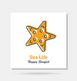 simple company logo example - sea life vector image vector image