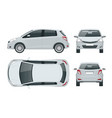 subcompact hatchback car compact hybrid vehicle vector image vector image