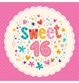 Sweet Sixteen card 2 vector image vector image
