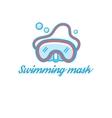 Symbol scuba mask vector image vector image