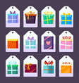 tags gifts commodity advertising labels template vector image vector image