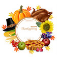 thanksgiving set realistic turkey and vector image vector image