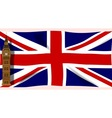 The Union Flag with Big Ben vector image vector image