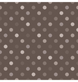 Tile brown and grey polka dots background vector image vector image