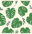 tropical leaves pattern vector image vector image